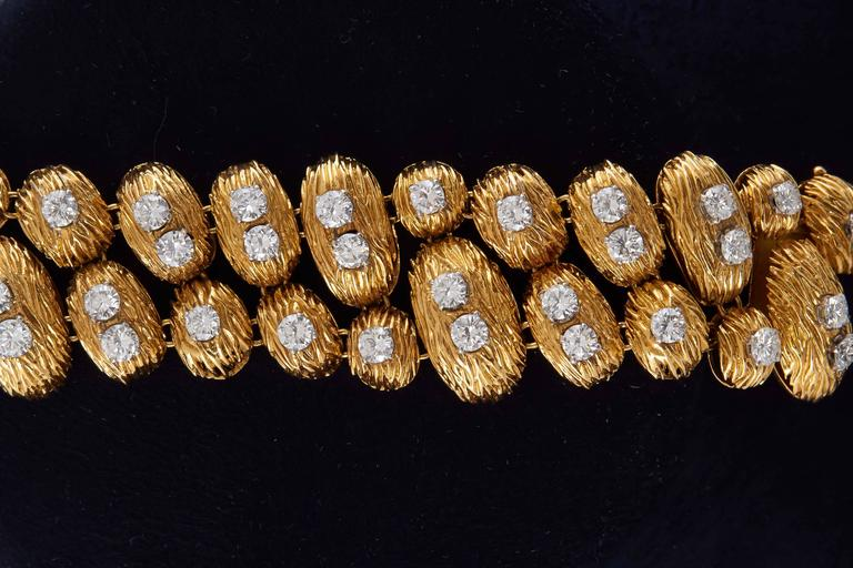 Van Cleef & Arpels Gold Diamond Bracelet In Excellent Condition For Sale In New York, NY