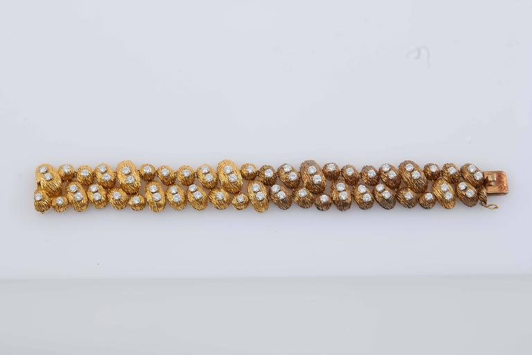 Women's Van Cleef & Arpels Gold Diamond Bracelet For Sale