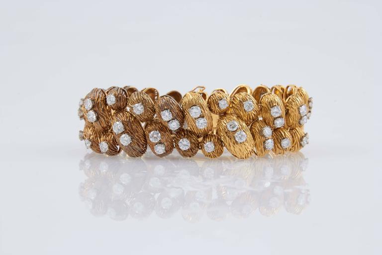 Van Cleef & Arpels Gold Diamond Bracelet For Sale 2