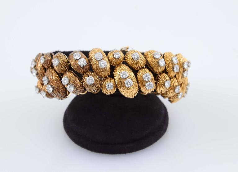 Van Cleef & Arpels Gold Diamond Bracelet For Sale 3