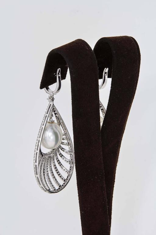 Diamond Scene Pearl Diamond Gold Fashion Earrings 5