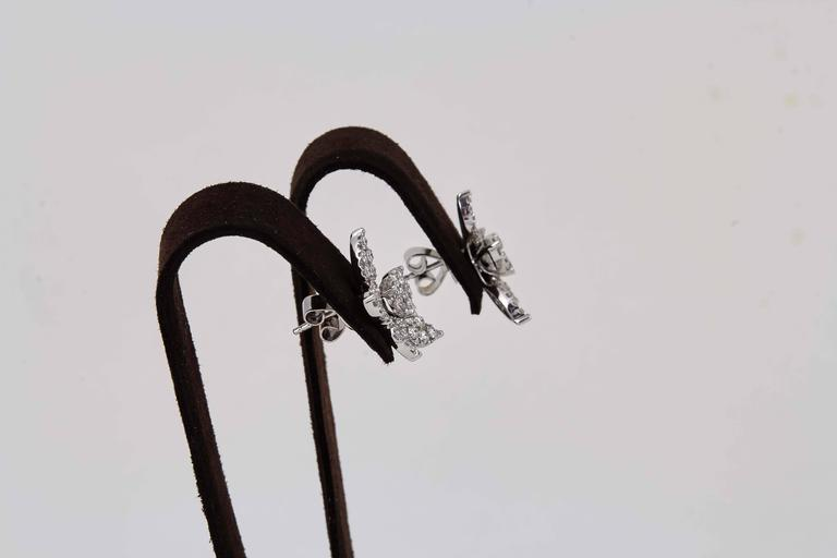 Classic Diamond Gold Cluster Earrings For Sale 1