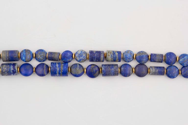 Lapis Lazuli Gold Necklace 3