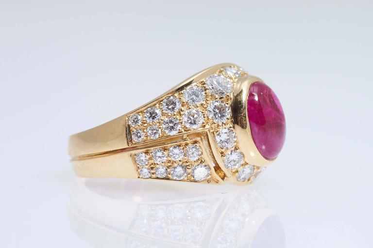 bulgari cabochon burma ruby diamond gold ring 3