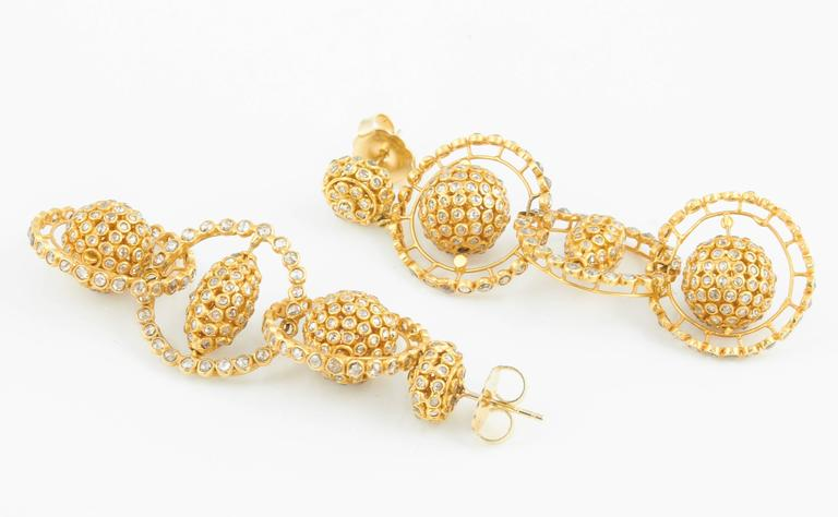 Women's Gold Diamond Mobile Earrings For Sale