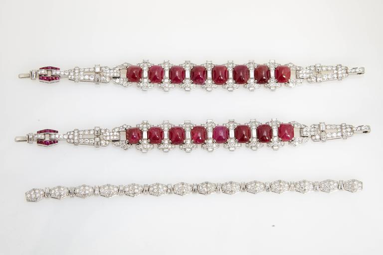 Magnificent Art Deco Ruby Diamond Sautoir Necklace For Sale 2