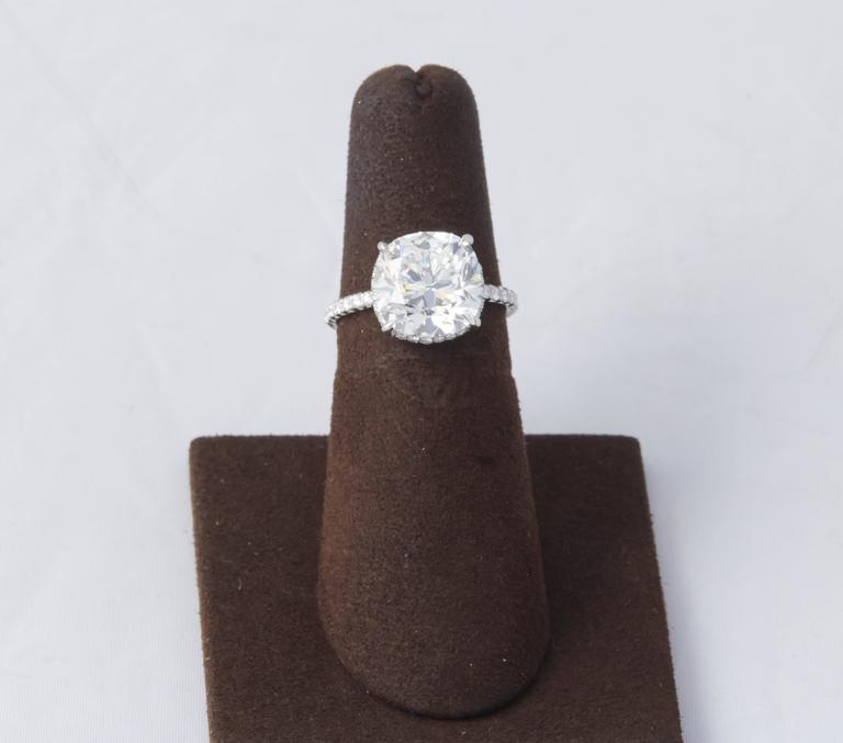 Rare 5 Carat Cushion Brilliant Cut GIA Certified Engagement Ring In New Condition For Sale In New York, NY