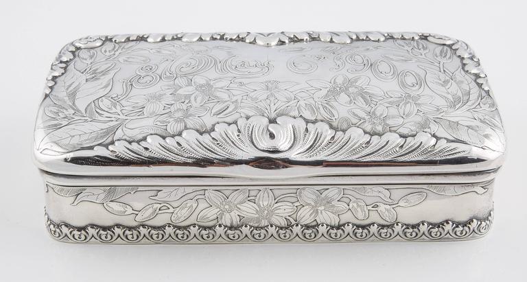Tiffany & Co. Silver 25th Anniversary Jewelry Box, 1900 2