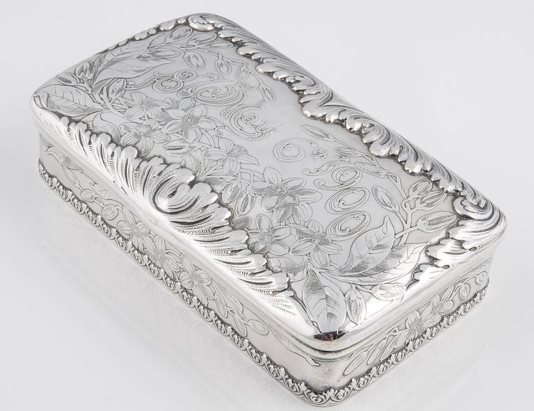 Tiffany & Co. Silver 25th Anniversary Jewelry Box, 1900 3
