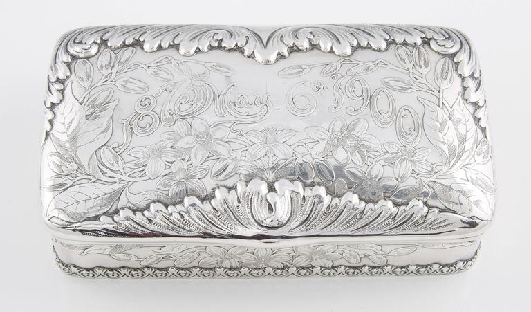 Tiffany & Co. Silver 25th Anniversary Jewelry Box, 1900 4