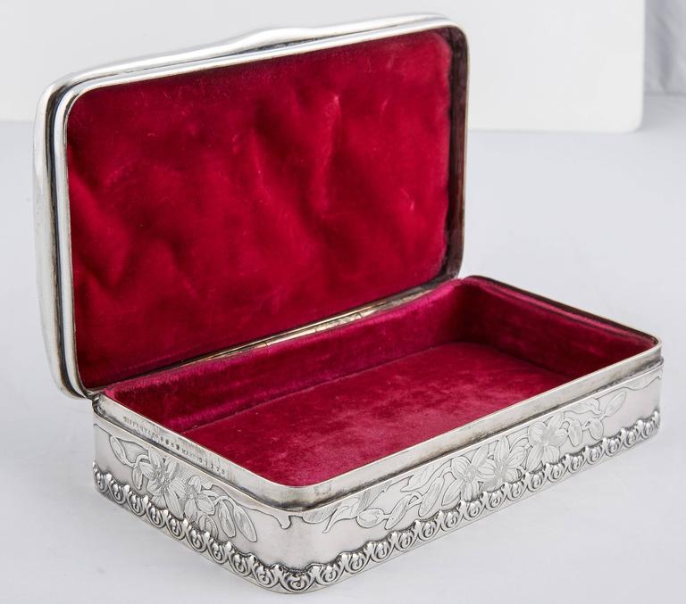 Tiffany & Co. Silver 25th Anniversary Jewelry Box, 1900 5
