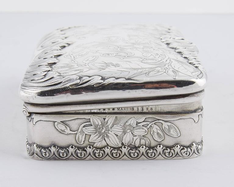 Tiffany & Co. Silver 25th Anniversary Jewelry Box, 1900 6