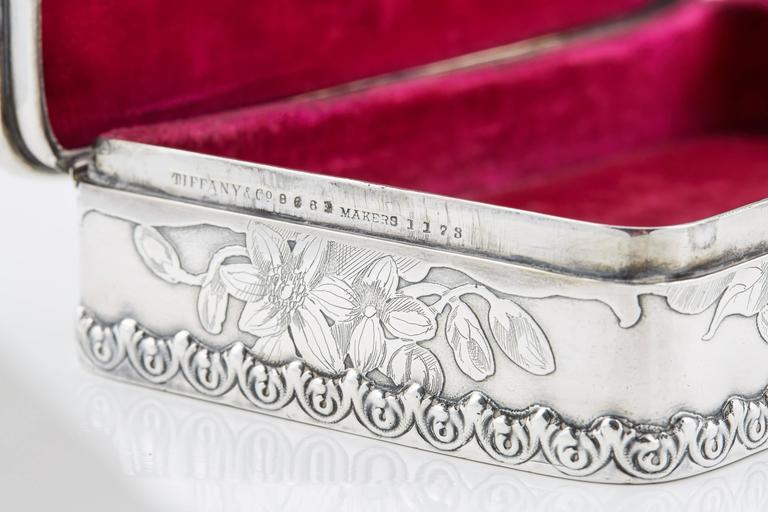 Tiffany & Co. Silver 25th Anniversary Jewelry Box, 1900 8