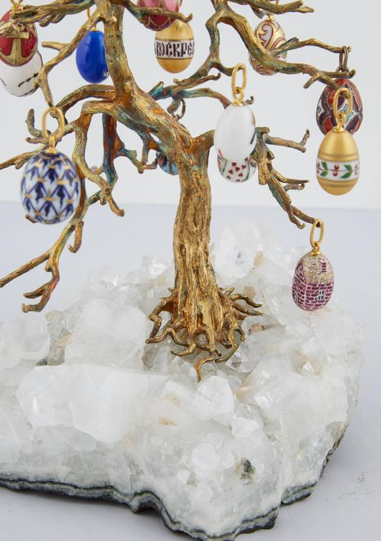 Russian Easter Egg Rock Crystal Tree For Sale At 1stdibs