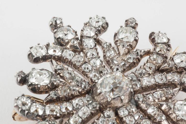 Georgian Regency  Cushion Cut Diamond Cruciform Brooch 6