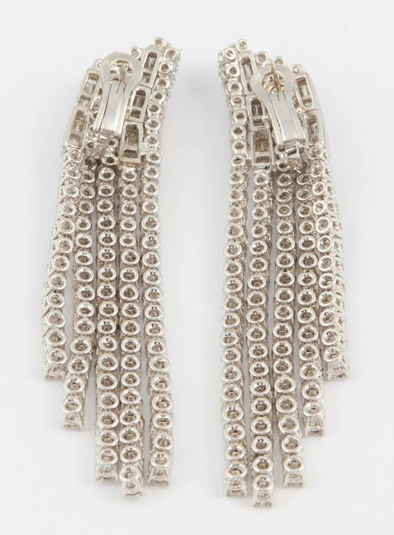 Women's or Men's Contemporary Diamond Dangle Chandelier Earrings For Sale