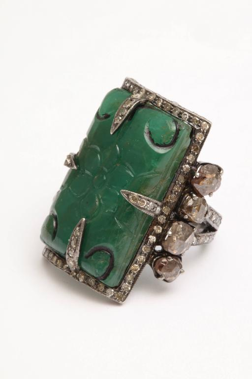 Emerald and Diamond Ring 2