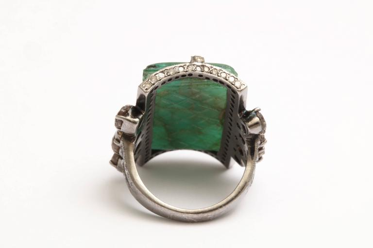 Emerald and Diamond Ring 5