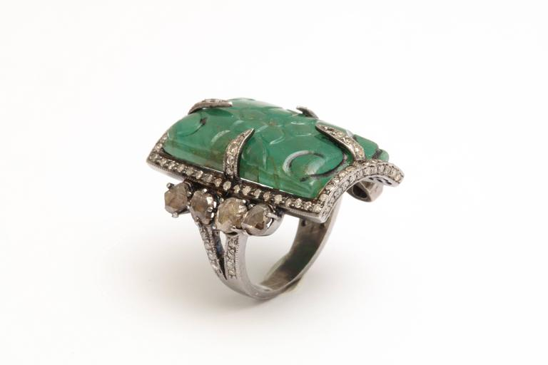 Emerald and Diamond Ring 4