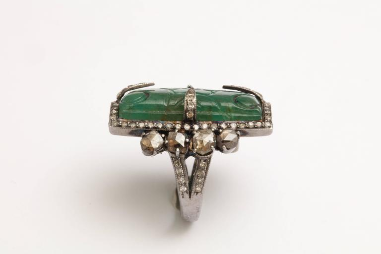 Emerald and Diamond Ring 6