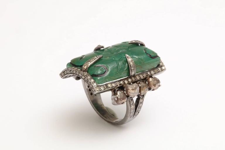 Emerald and Diamond Ring 3