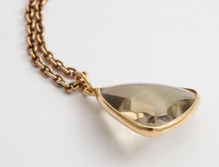 Smoky Quartz Gold Pendant, 20th century 1