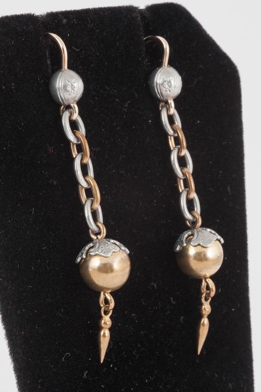 Antique Aluminium Drop Earrings 2