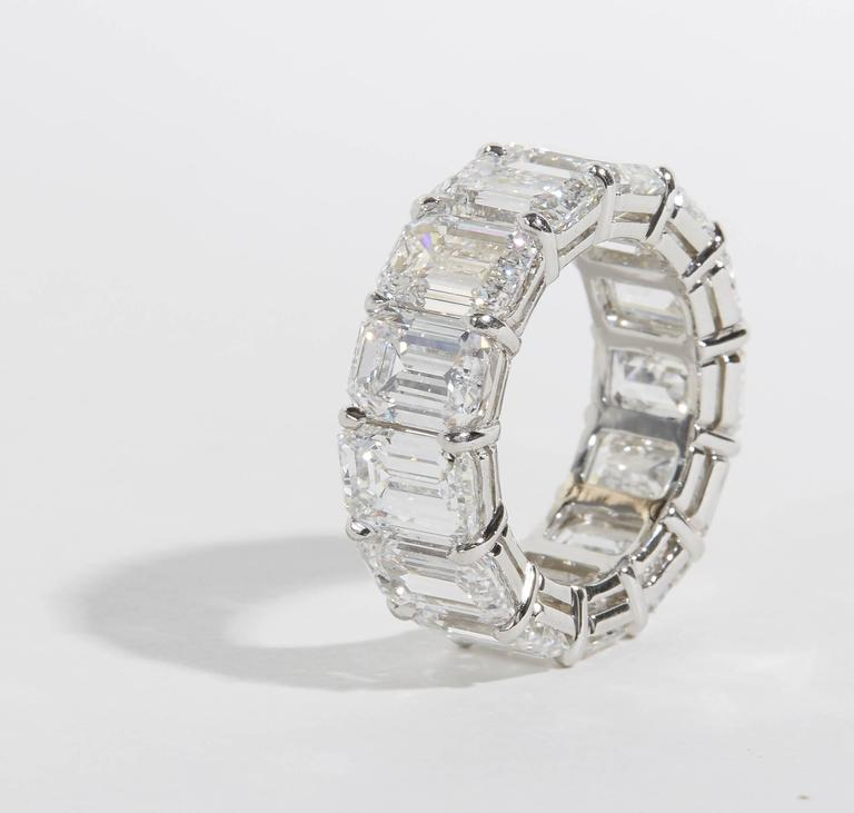 Important GIA Emerald Cut Diamond Eternity Band For Sale 1