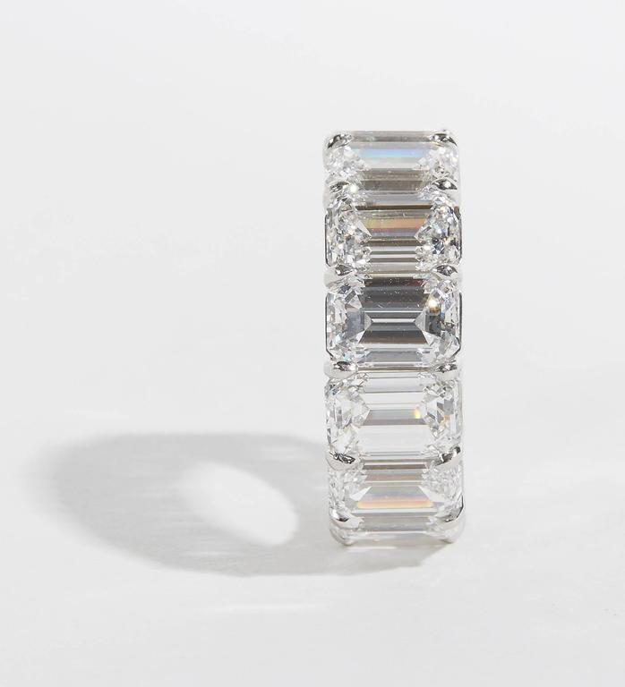 Important GIA Emerald Cut Diamond Eternity Band For Sale 2