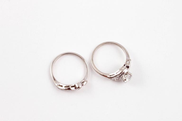 Keepsake 0 75 Carat Diamond Wedding Ring Set White Gold At