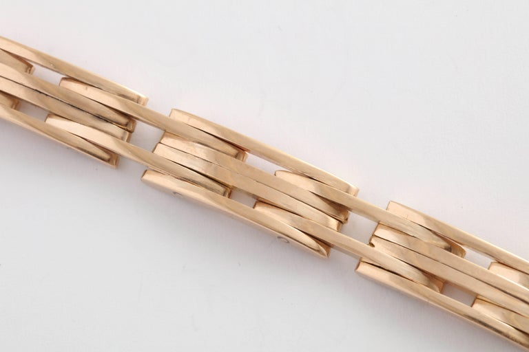 Modernist Retro Rose Gold Bracelet For Sale
