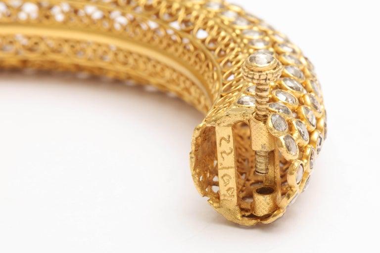 Indian Rose Diamond Bangle 4