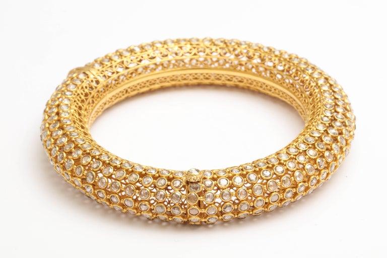 Indian Rose Diamond Bangle 6