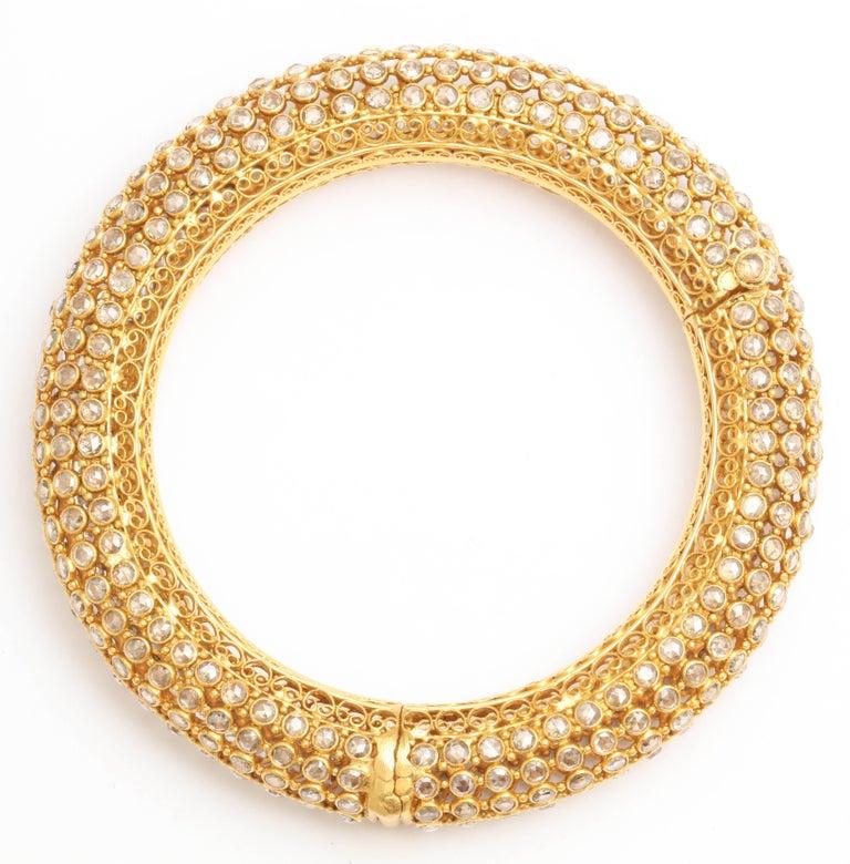 Indian Rose Diamond Bangle 7