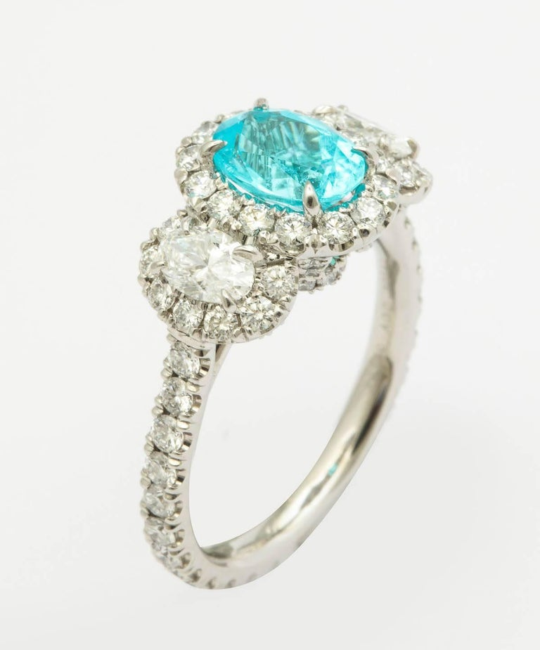 Agl Certified 1 13 Carat Paraiba Tourmaline Ring For Sale