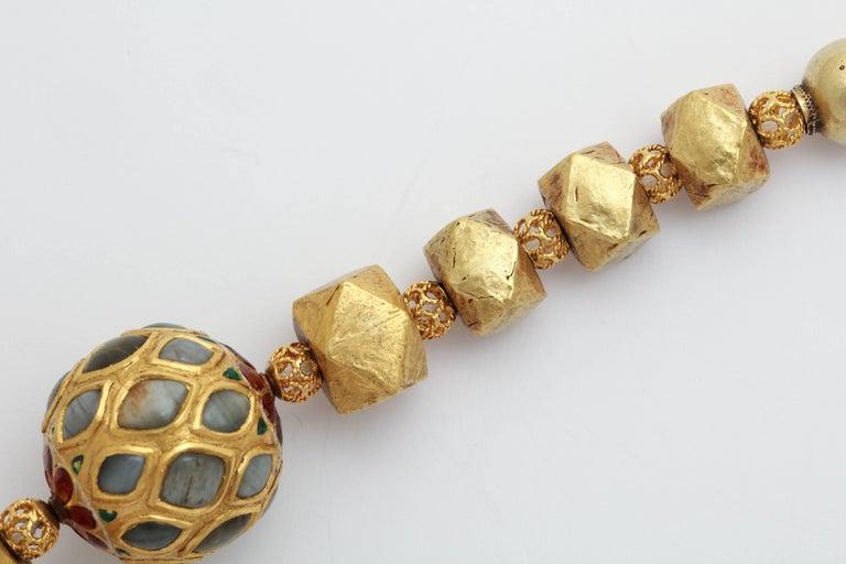 Women's Multi Gem Nine Planet Necklace For Sale