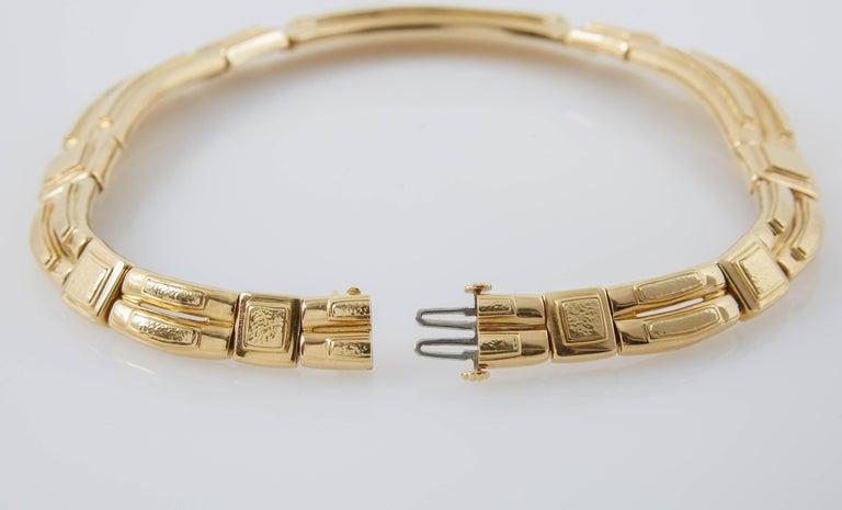 Women's or Men's David Webb Gold Collar Necklace For Sale