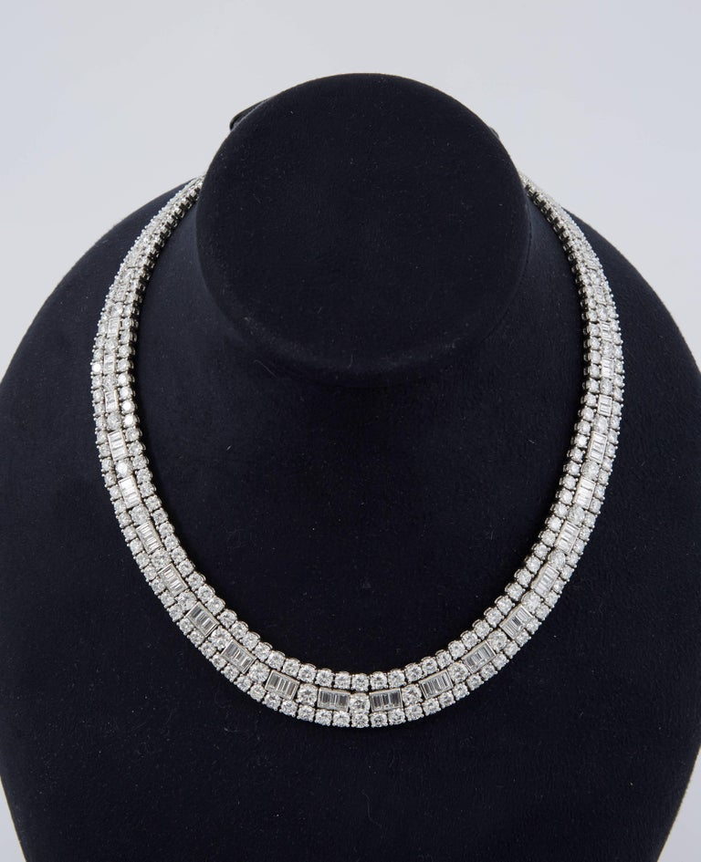 David Webb Diamond Platinum  Necklace 2