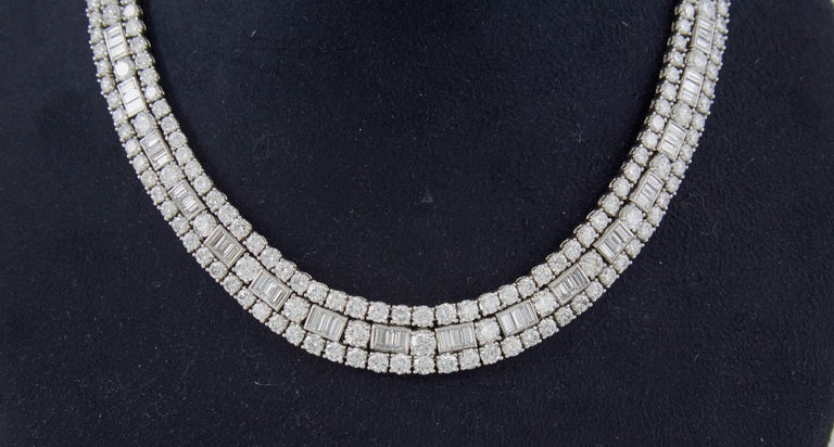 David Webb Diamond Platinum  Necklace 3