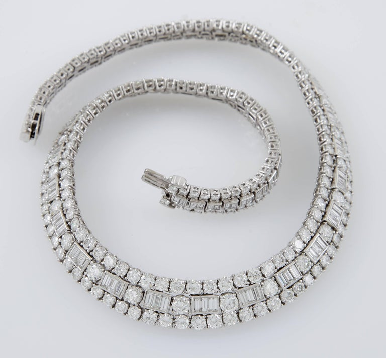 David Webb Diamond Platinum  Necklace 4
