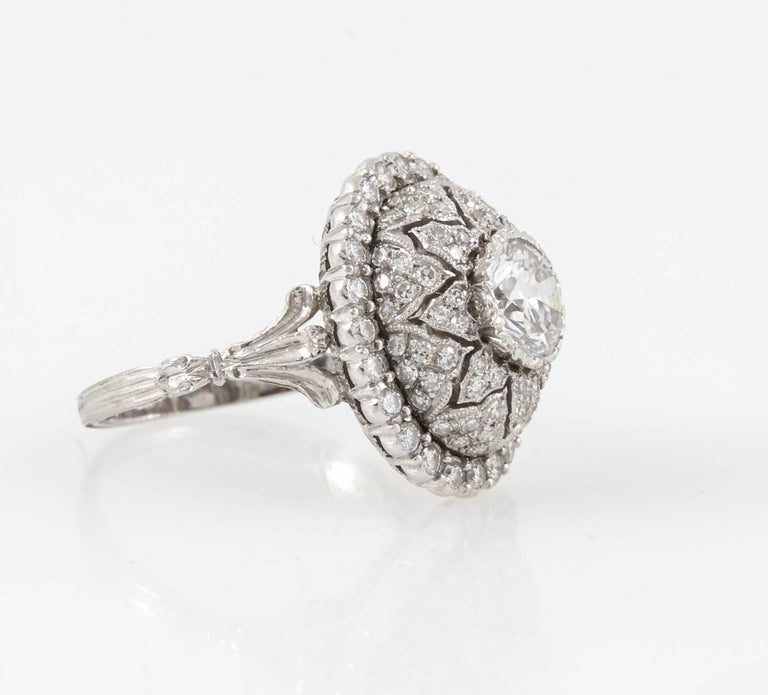 Mario Buccellati Platinum and Diamond Ring In Excellent Condition In New York, NY