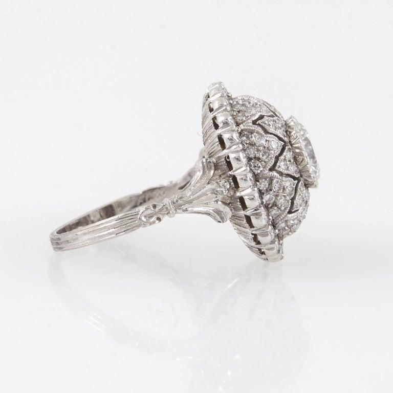 Women's Mario Buccellati Platinum and Diamond Ring