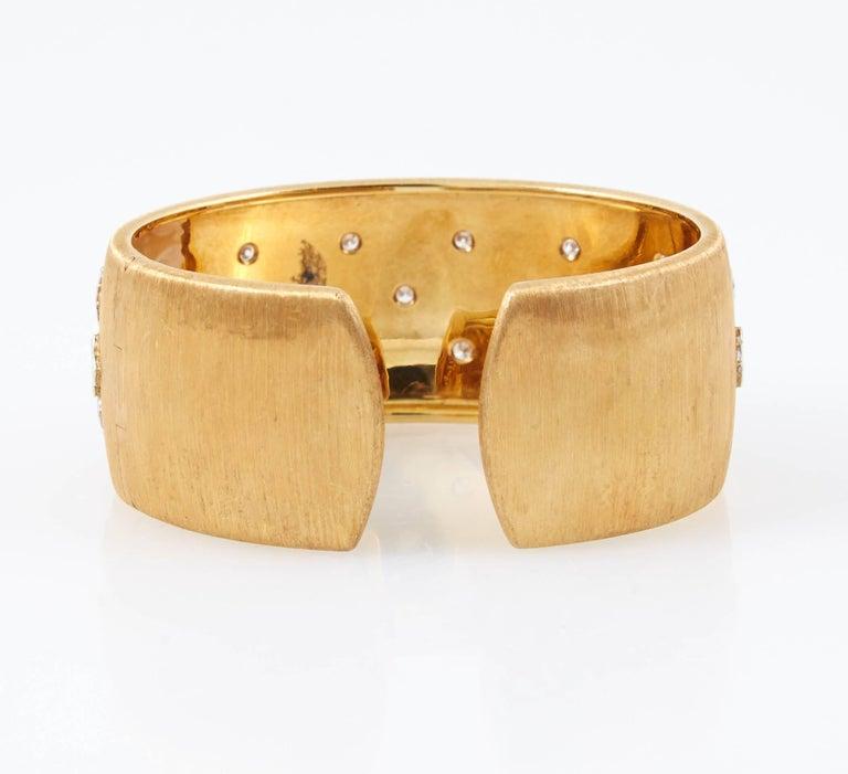 Mario Buccellati Diamond Gold Cuff Bracelet 5