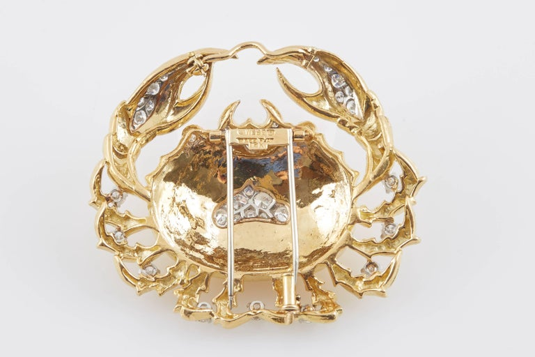 David Webb Zodiac Brooch In Excellent Condition For Sale In New York, NY