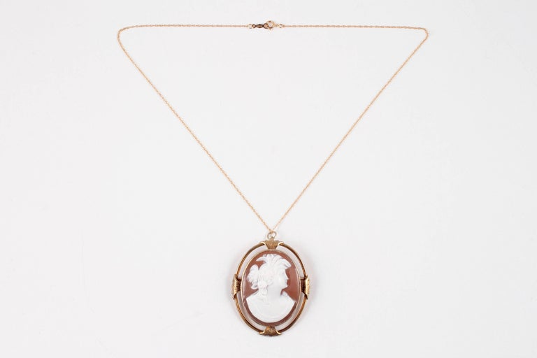 Victorian gold filled shell cameo pendant for sale at 1stdibs victorian gold filled shell cameo pendant on 18 inch gold filled chain aloadofball Choice Image