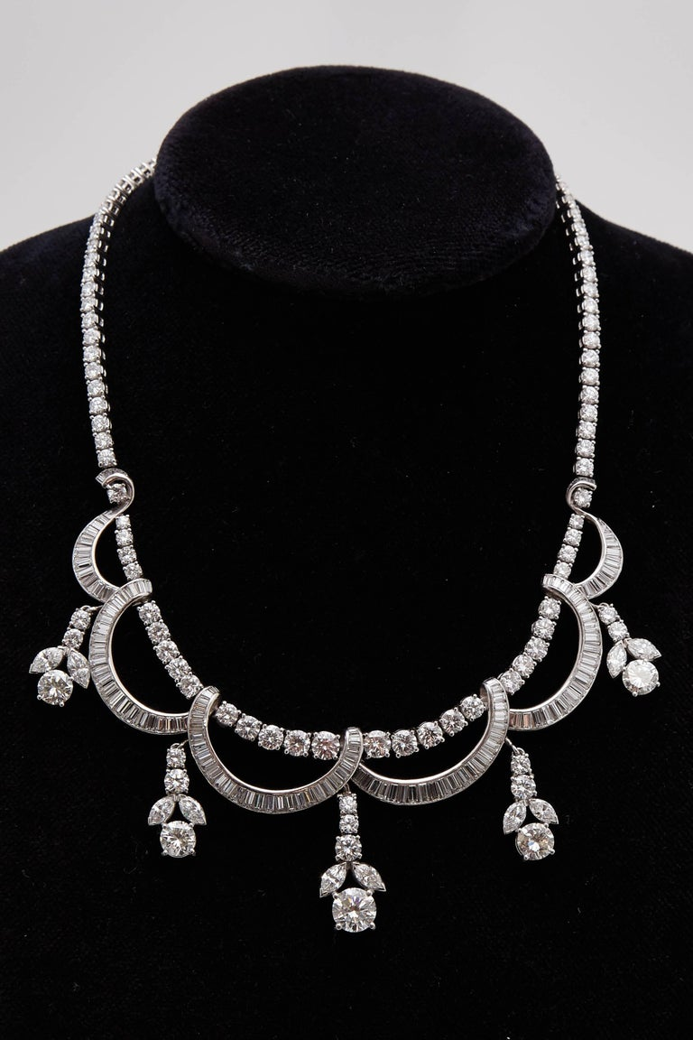 1930s Diamond Platinum Necklace 2