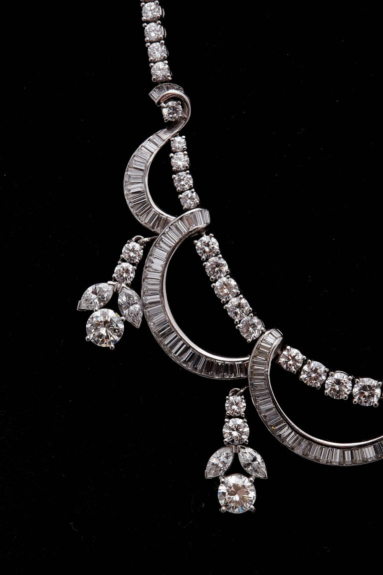 1930s Diamond Platinum Necklace 3