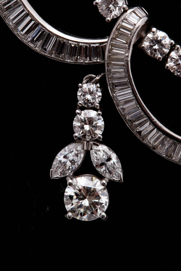 1930s Diamond Platinum Necklace 4