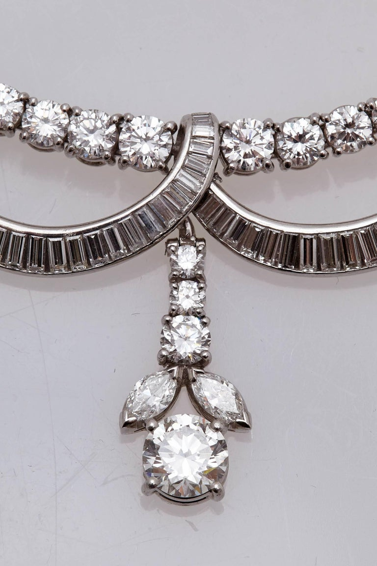 1930s Diamond Platinum Necklace 5