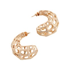 SAM.SAAB Rose Gold Contemporary Earrings with Diamond Accents